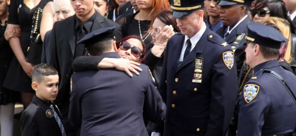 From a Sea of Blue, Saluting a Hero: Thousands Attend Funeral for NYPD Officer Dennis Guerra