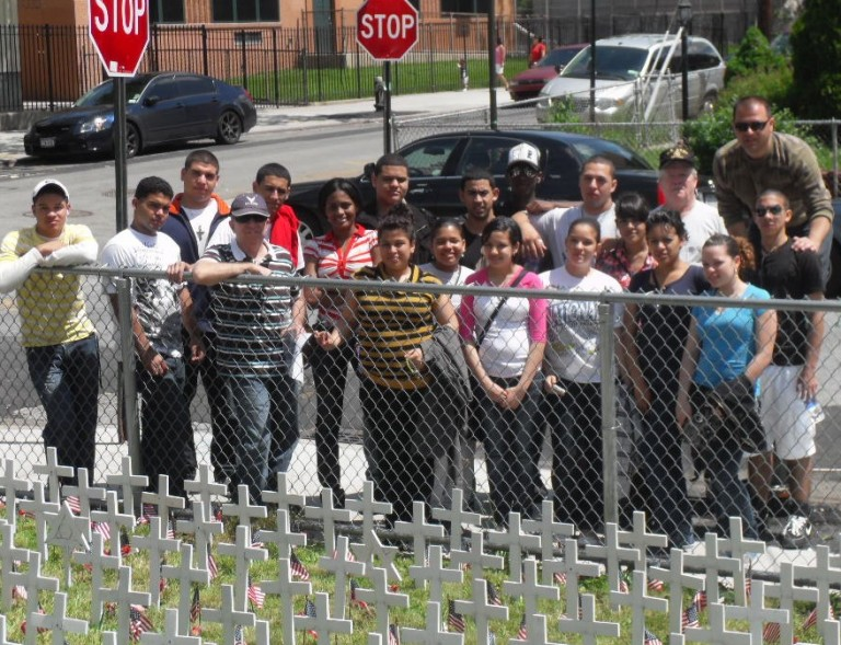 Students Revisit Woodhaven's Garden of Remembrance
