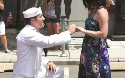 Navy Sailor's Surprise: Will You Marry Me?