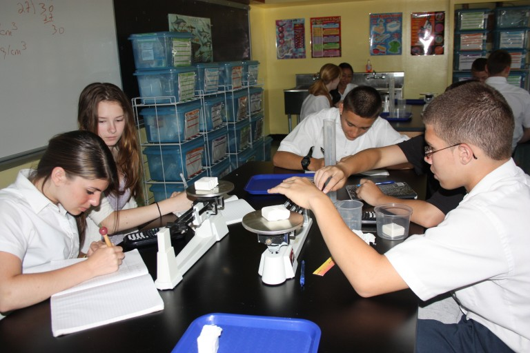 Science Lab Comes to Ave Maria Catholic Academy