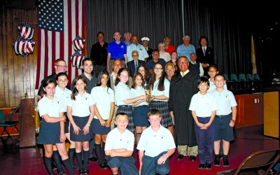 Inauguration Held for Builders Club of St. Helen's School