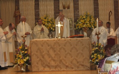 Bishop Celebrates Mass to Mark St. Helen's 50th Anniversary