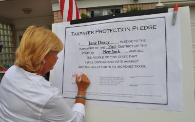 Deacy Pledges No New Taxes