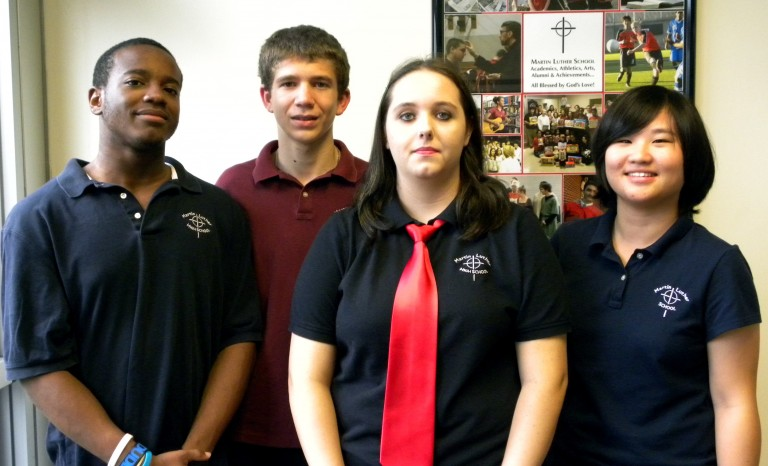 Martin Luther School Honors Four as Student of the Month