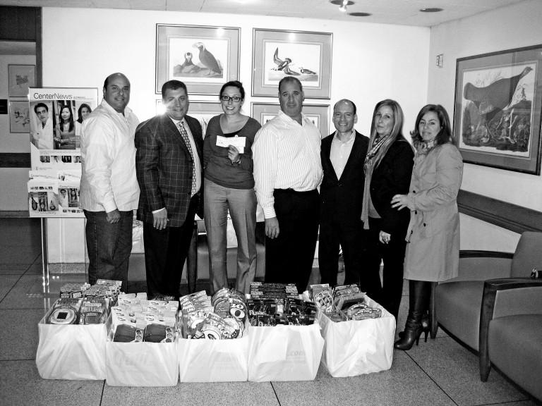 HB Columbus Day Foundation Visits Sloan Kettering Kids