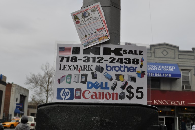 Dozens of Illegal Signs Removed