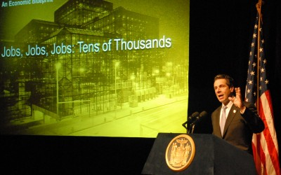 Cuomo Stumps for Schools, Convention Center in Queens
