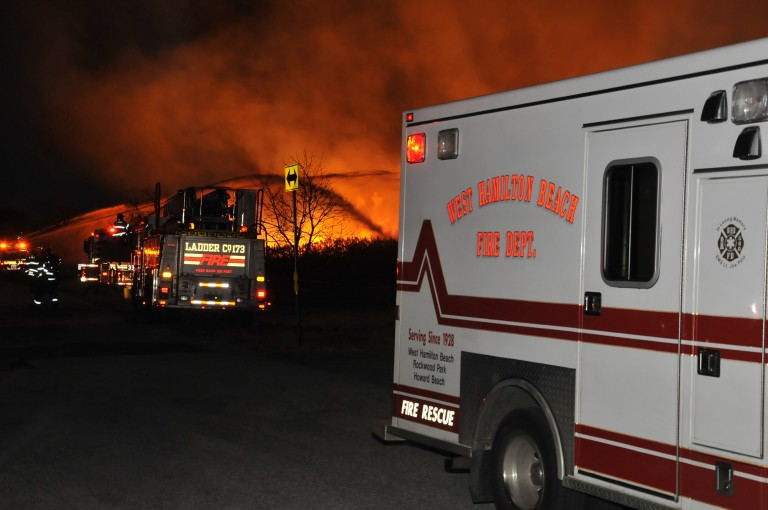 Firefighters Extinguish Two-Alarm Brush Fire