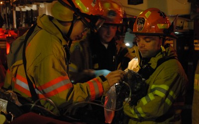 Woman, Dog Rescued from Fire in Woodside