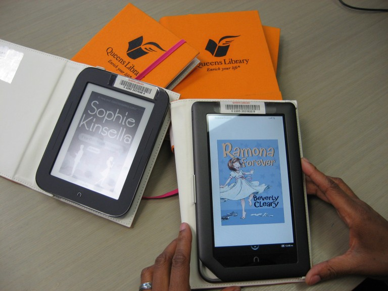 Queens Library Loans Free E-readers