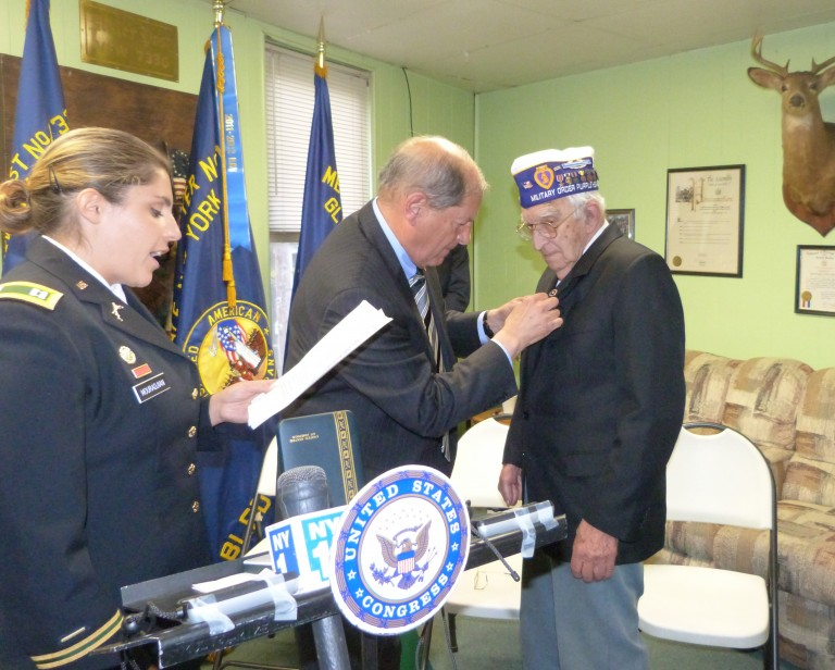 Decades After Service, WWII Veteran Receives Purple Heart