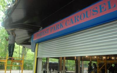 Carousel Operator Galloping Toward Memorial Day Opening
