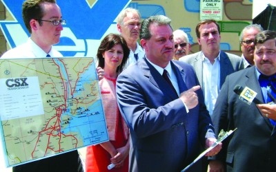 Politicians, Residents Protest More Trash Trains in Queens