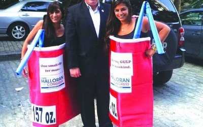 Halloran Joins In Million Big Gulp March