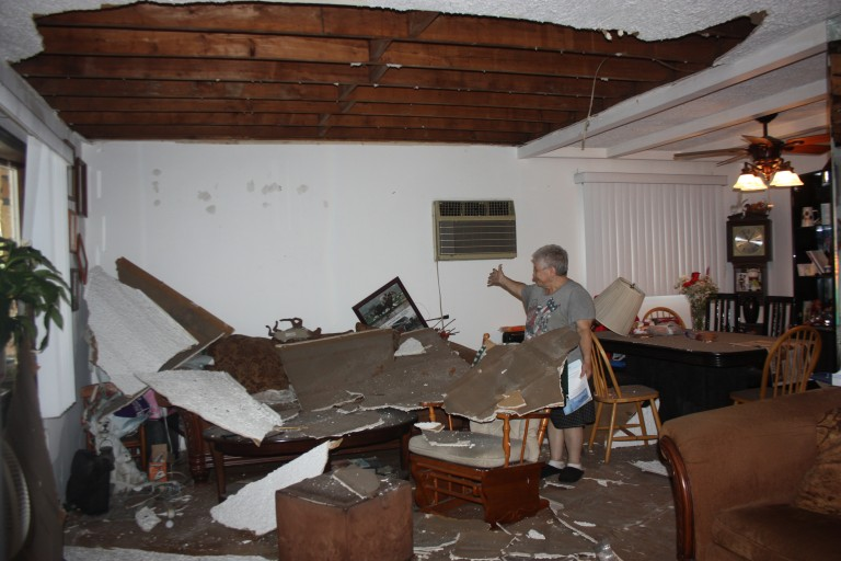 Ceiling Collapse in Howard Beach House