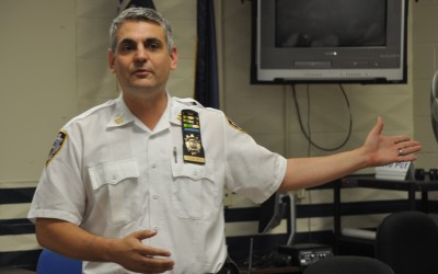 Captain Conforti Introduces Himself to Residents