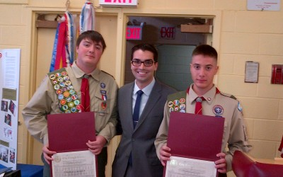 Eagle Scouts Honored at Ceremony