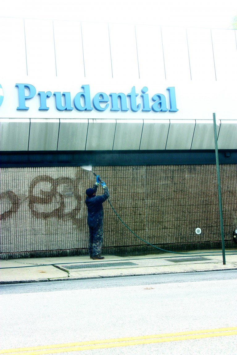 Community Joins Together, Wipes out Lindenwood Graffiti