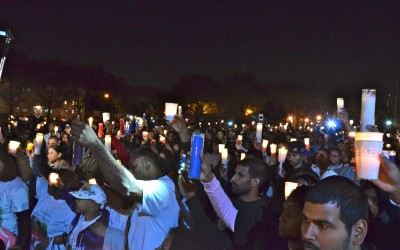 Candle Light Vigil For Crash Victims