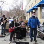 Plastic Soul belted out a few Beatle's classics much to the delight of those who braved the cold and lined up to hear the groups soulful sounds.