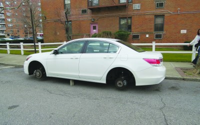 A Wheel Pain… Rim thefts continue to plague car owners, police