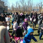 It was an all out sprint to discover all the eggcellent surprises in eggs hidden all over the school's great lawn.