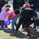 """It was a real """"scramble"""" for kids of all ages to load up as many eggs as possible from the Little League fields."""