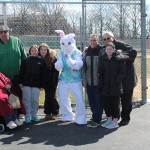Civic members and members of the board joined with a certain floppy eared creature to bring smiles and cheer to egg hunters. Pictured are Ida Brasile, Vice President Charlie Gisondi, Easter Bunny Helpers Gianna Sanzillo & Brittany Finger, Easter Bunny, civic President Howard Kamph, and Trustee Anthony Perdichizzi and Cristina Kamph