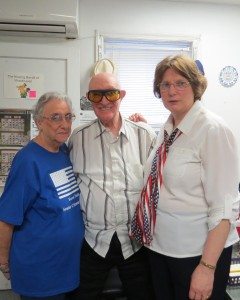 Loretta Phillips, left, Joe Palladino and Forest Park Senior Center Executive Director, Donna Caltabiano, spend time together just before the Woodhaven center closed its doors for good after 34 years last Thursday. Anna Gustafson/The Forum Newsgroup