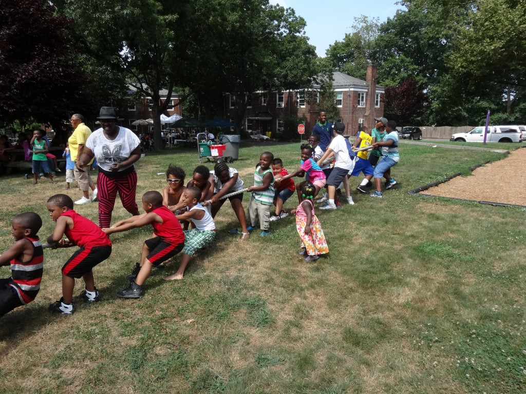 Children have fun playing tug of war during the annual Lions Club Festival at Forestdale in Forest Hills last Saturday. Photo Courtesy of Forestdale
