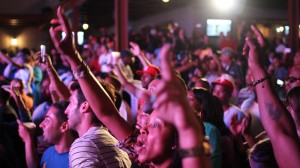 Music lovers have fun at one of the many concerts held at Studio Square.