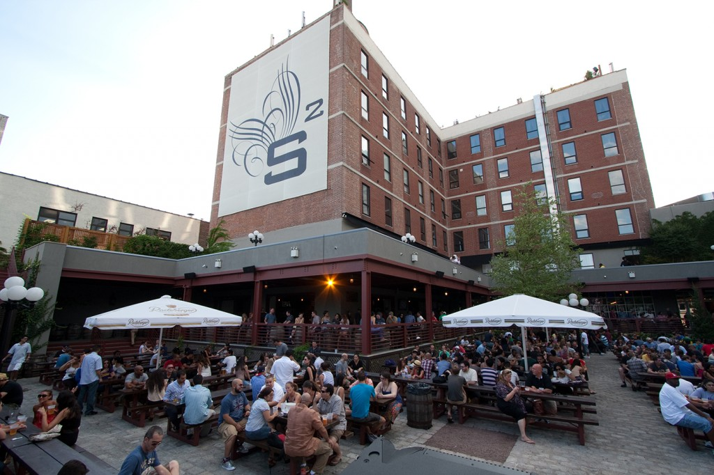 Studio Square is a 30,000-square-foot German beer garden, which includes an expansive courtyard.