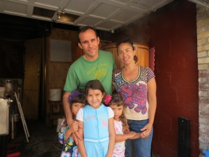 Rich Castagna and his wife, Lisa, with their three daughters, Hailey, left, Mia, and Samara.