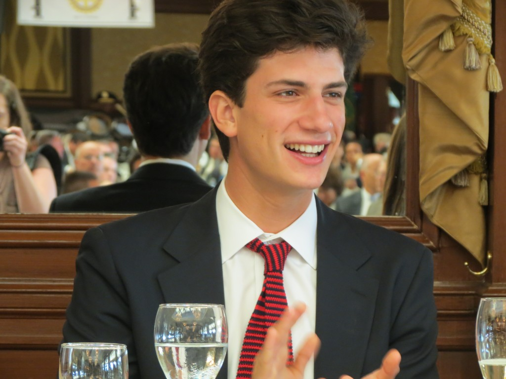 "President John F. Kennedy's only grandson, John ""Jack"" Schlossberg, the son of Caroline Bouvier Kennedy, attended Tuesday's event commemorating naming the airport in honor of his grandfather."