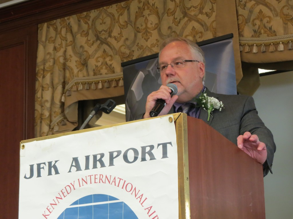 JFK International Airport Chamber of Commerce President Robert Caton said in addition to marking the anniversary, he said it was a milestone that the airport expects to draw more than 50 million people through its gates this year.