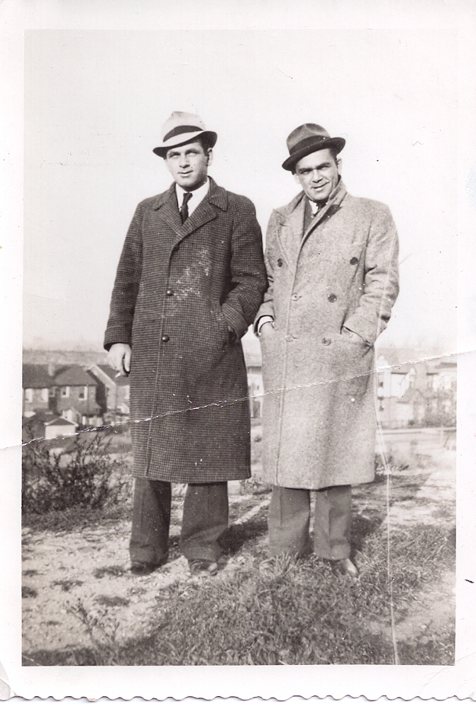 Robert McNally's father, Robert, and his brother, Ed, stand at the top of Crematory Hill.