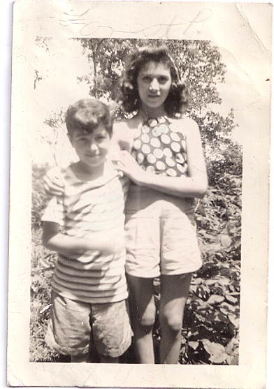 Robert McNally and his sister, Judy, in Forest Park in 1941.
