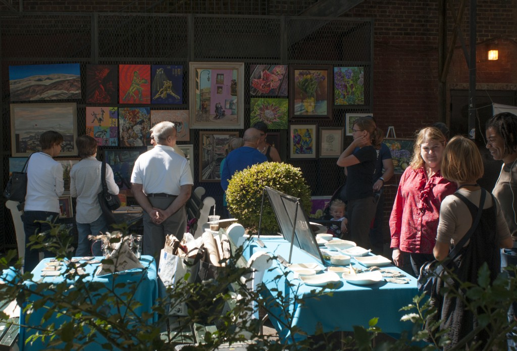 The Kew Gardens Community Art Day last Sunday drew people from throughout Queens.