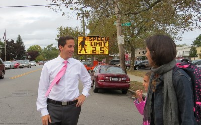 DOT Installs Speed Board At P.S. 232 – Goldfeder finally gets response