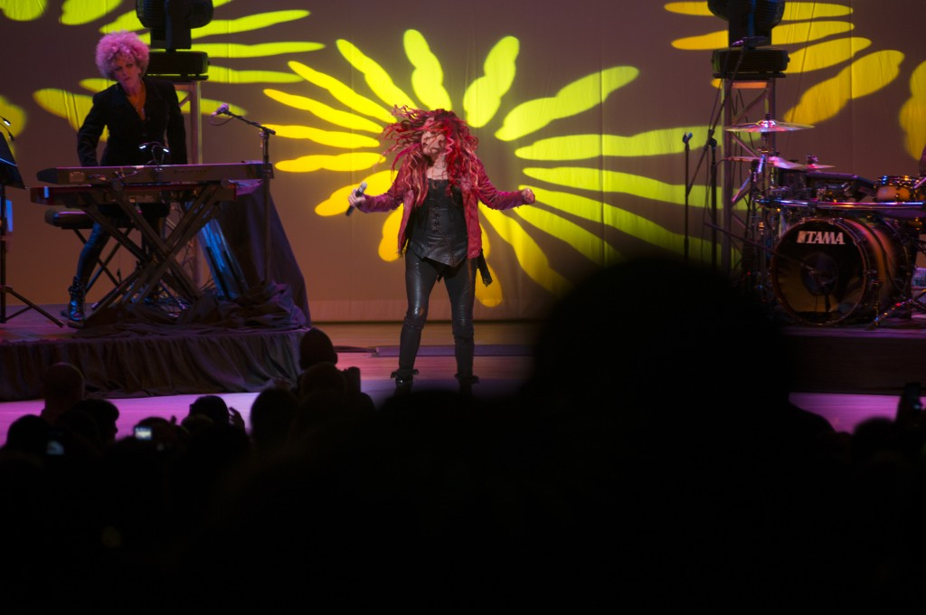 "The last time Cyndi Lauper said she was at Queens College, it was to receive her high school diploma. On Sunday, she entertained a thrilled crowd - which included her mother - at the school to kick off her tour celebrating the 30th anniversary of her debut album, ""She's So Unusual."""