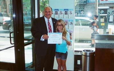 Student Wins Astoria Federal Savings' Essay Contest