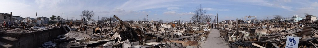 The fire that devastated Breezy Point left the area looking like what many residents called a war zone. Richard York/The Forum Newsgroup