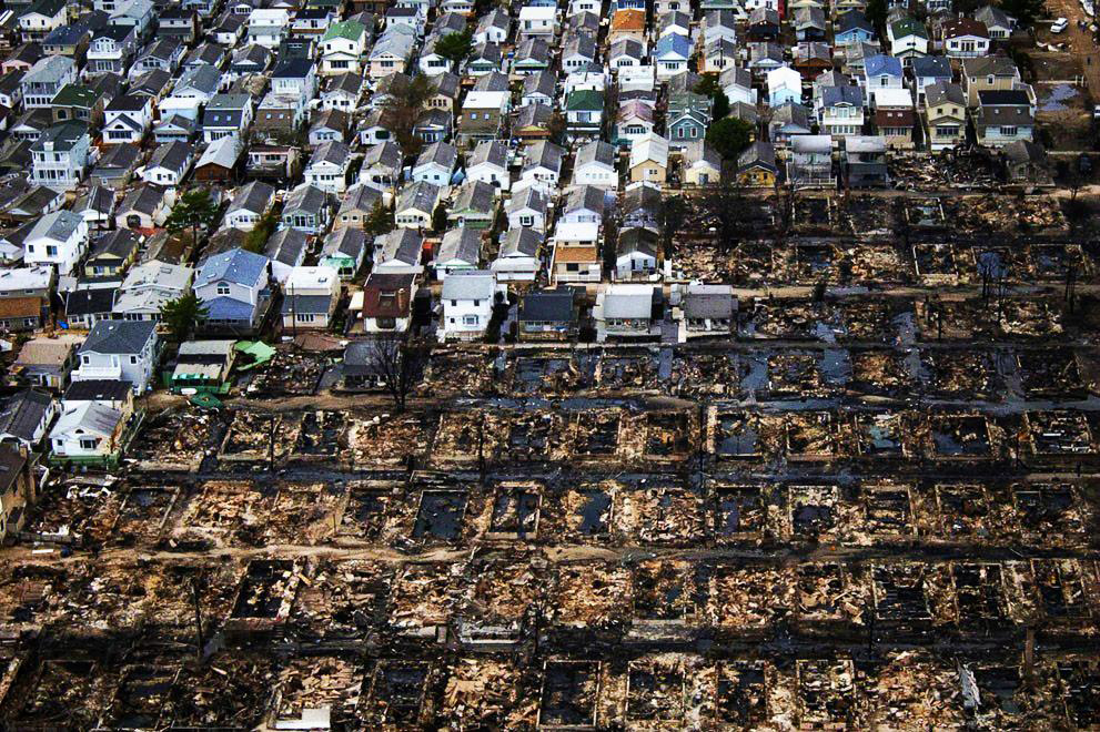 During Sandy, 350 homes were destroyed in the storm - including 135 in the fire. More than 2,000 homes were damaged, and 2,837 families were affected. File Photo