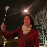 Councilwoman Elizabeth Crowley wished the crowd a happy holiday season at the tree lighting ceremony.