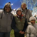 Jordan, 10, left; Keith, 8; Sydney, 4; and Brandi Gibbons, of Fresh Meadows, said they were thrilled to spend some time with Santa Saturday night.
