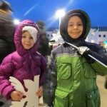Juliana, 4, and Matthew, 6, were, like many of the children who gathered for the tree lighting, bundled up for a cold - but fun - evening.