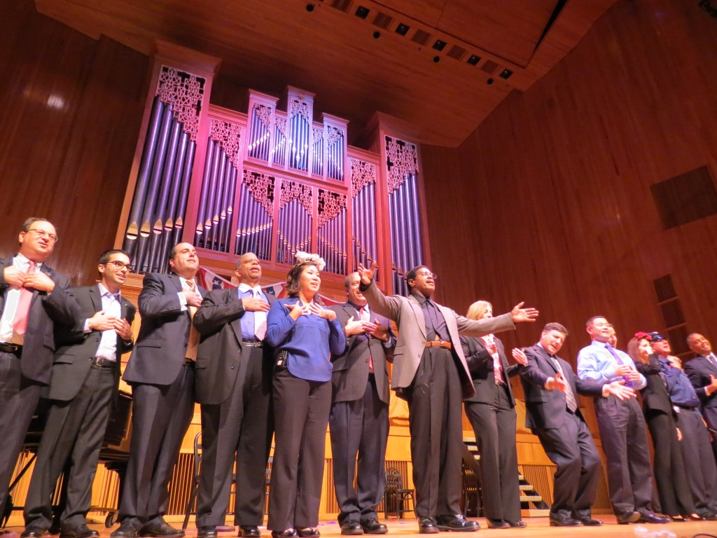 Legislators from throughout the borough came together for an evening of song, dance and comedy to raise money for two Queens College programs benefiting Queens' underserved populations, including homeless children and domestic violence victims. Anna Gustafson/The Forum Newsgroup