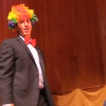 Assemblyman Phil Golder dons a rainbow Afro wig in honor of Mayor-elect Bill de Blasio's son's hairstyle that assumed a starring role in de Blasio's mayoral bid.