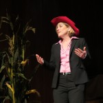 """Borough President-elect Melinda Katz launched the evening's repertoire with a Queensified version of """"Oh, What a Beautiful Morning!"""" from the Broadway show """"Oklahoma."""""""
