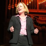 """After soliciting advice on her new post from outgoing Borough President Helen Marshall and former Borough President Claire Shulman, Borough President-elect Melinda Katz belts out a version of """"On My Own"""" from """"Les Miserables."""""""